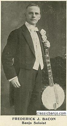 Frederick J. Bacon Pemain Banjo Lima Senar